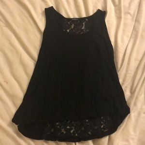 Black short sleeve with lace back